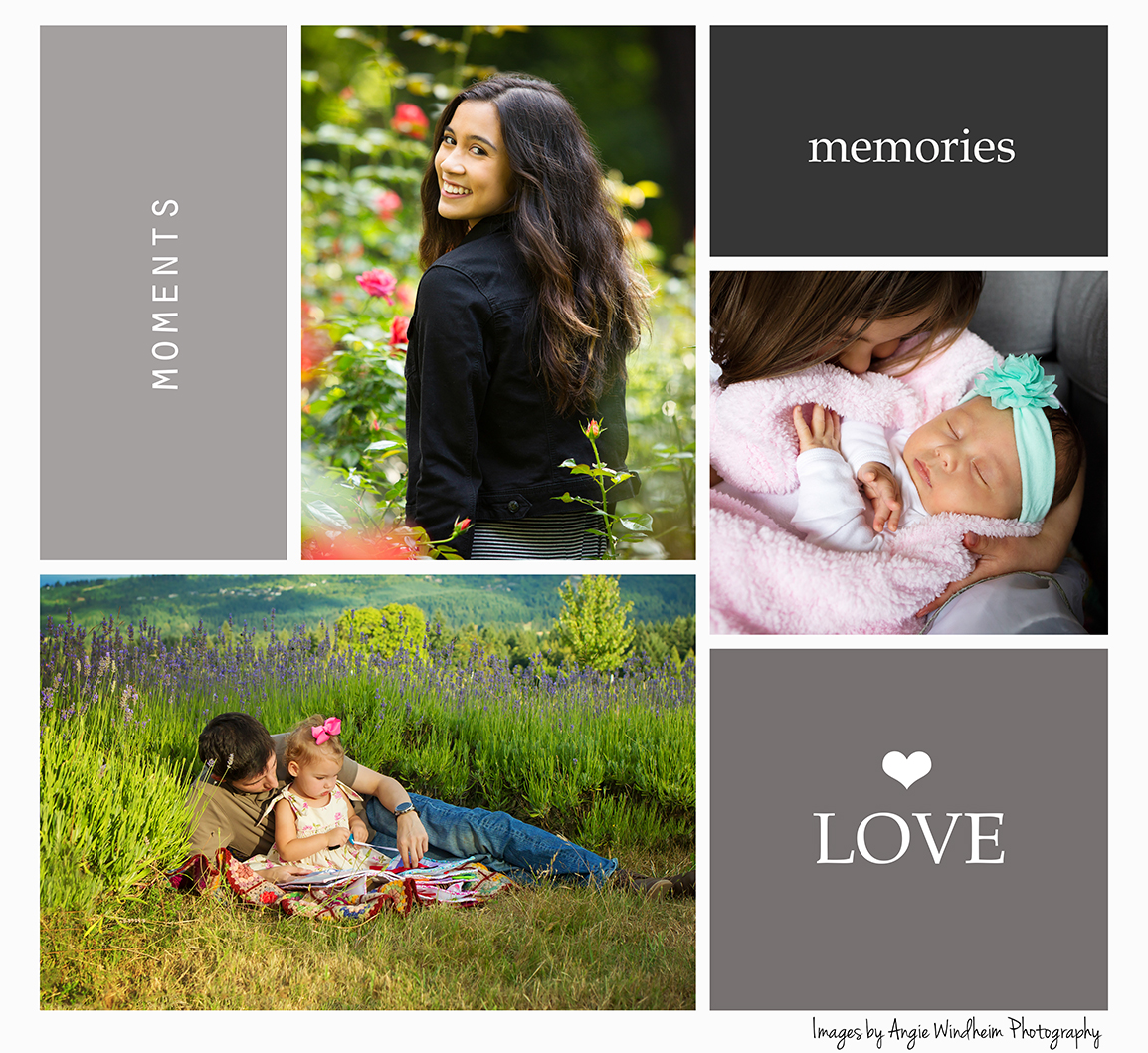 Angie Windheim Photography, professional portraits for families and high school seniors in Oregon