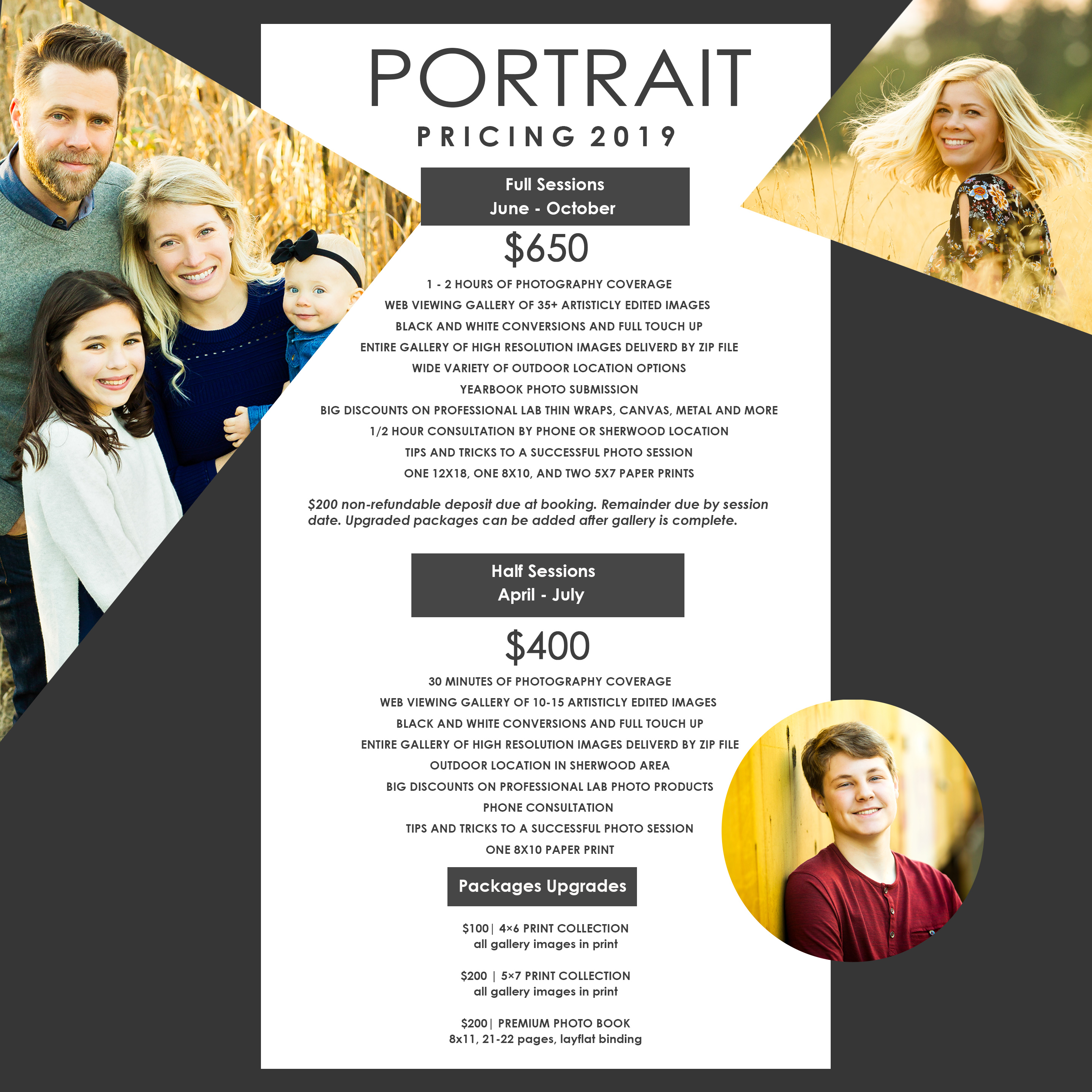 AWP standard portrait pricing for 2019