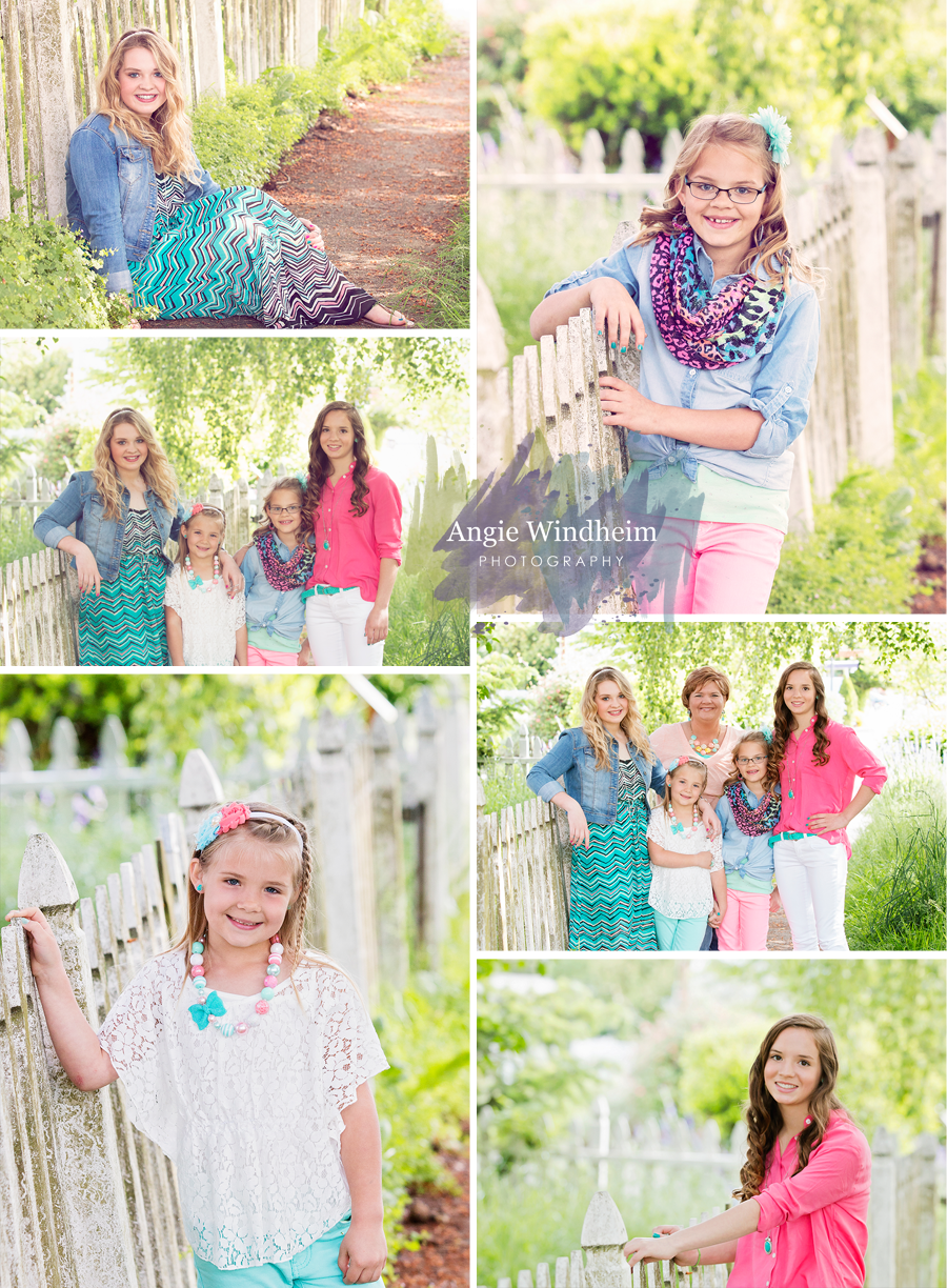 family portraits girls Newberg Oregon