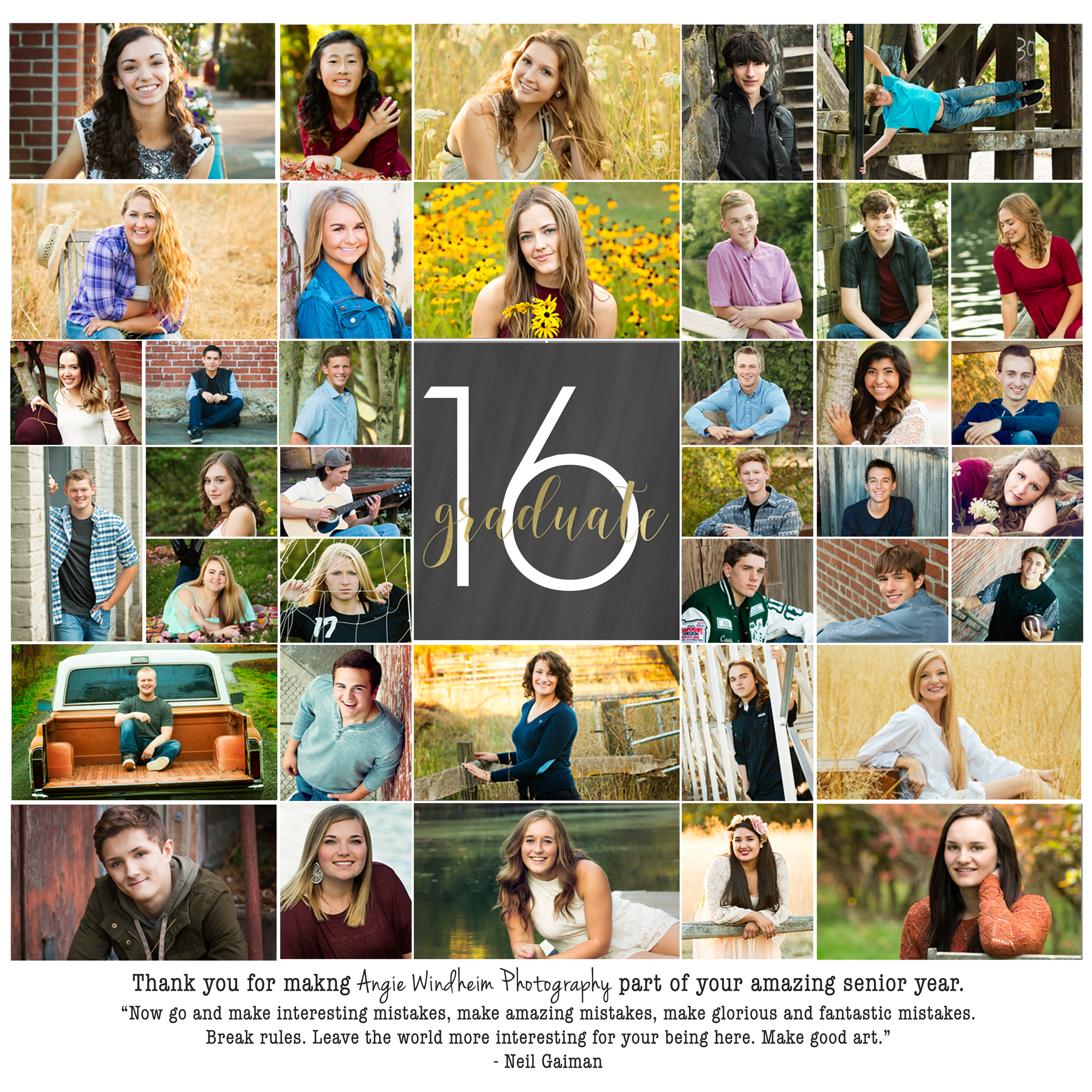 Class of 2016 portraits by Angie Windheim Photography